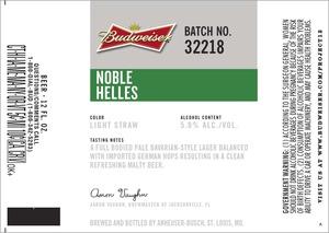 Budweiser Noble Helles