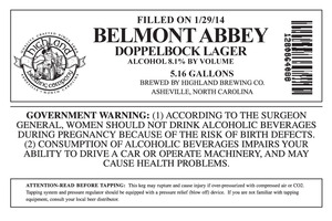 Highland Brewing Co. Belmont Abbey Doppelbock