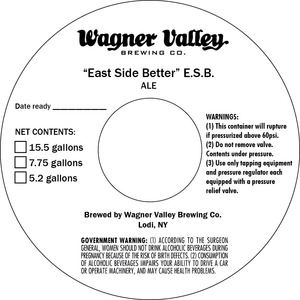 Wagner Valley Brewing Co East Side Better E.s.b.