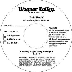 Wagner Valley Brewing Co Gold Rush