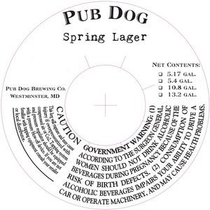 Pub Dog Spring Lager