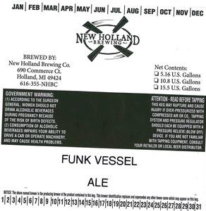New Holland Brewing Company, LLC Funk Vessel