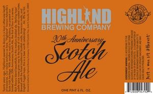 Highland Brewing Co. 20th Anniversary Scotch