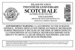 Highland Brewing Co. Twentieth Anniversary Scotch