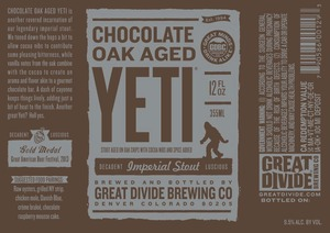 Great Divide Brewing Company Chocolate Oak Aged Yeti