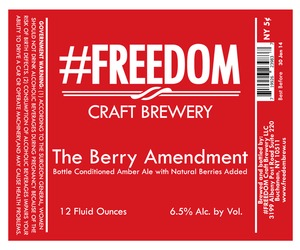 #freedom Craft Brewery The Berry Amendment February 2014