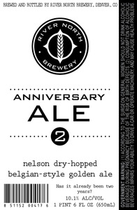 River North Brewery Anniversary Ale 2