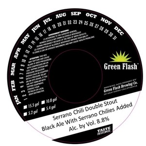 Green Flash Brewing Company Serrano Chili Double Stout