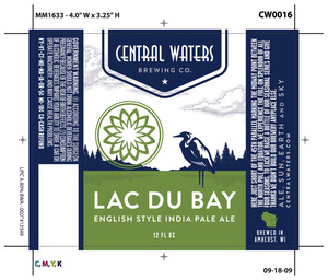 Central Waters Brewing Company Lac Du Bay English Style India Pale
