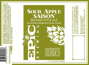 Epic Brewing Company Sour Apple Saison