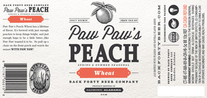 Back Forty Beer Company Paw Paw's Peach Wheat