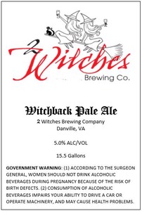 2 Witches Brewing Company Witchback Pale Ale
