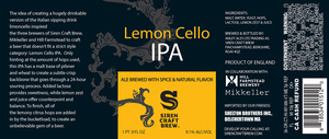 Siren Craft Brew Lemon Cello