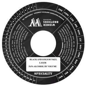Widmer Brothers Brewing Company Black And Gold Dunkel February 2014