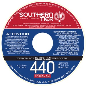 Southern Tier Brewing Company Nashville 440