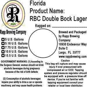 Rapp Brewing Company Rbc Double Bock