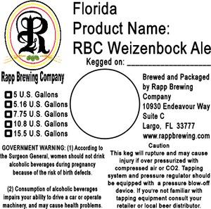 Rapp Brewing Company Rbc Weizenbock
