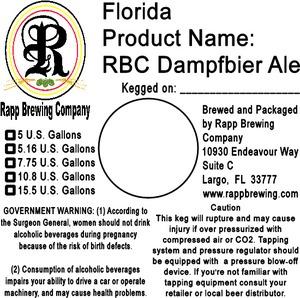 Rapp Brewing Company Rbc Dampfbier