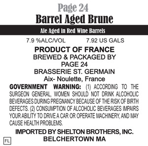Page 24 Barrel Age Brune