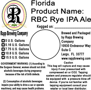 Rapp Brewing Company Rbc Rye IPA