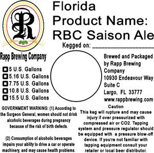 Rapp Brewing Company Rbc Saison