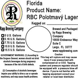 Rapp Brewing Company Rbc PolotmavÝ