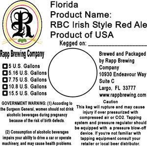 Rapp Brewing Company Rbc Irish Style Red
