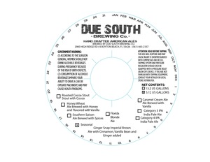Due South Brewing Co. Ginger Snap Imperial Brown