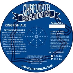 Chafunkta Brewing Company Kingfish Ale
