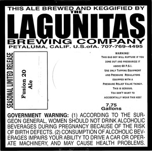 The Lagunitas Brewing Company Fusion 20