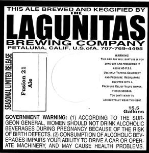 The Lagunitas Brewing Company Fusion 21