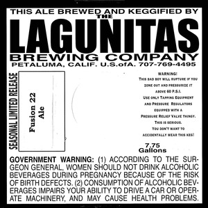 The Lagunitas Brewing Company Fusion 22