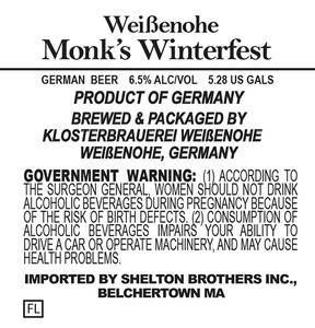 Weissenohe Monk's Winterfest March 2014