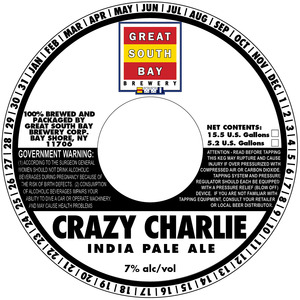 Great South Bay Brewery Crazy Charlie