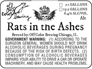 Off Color Brewing Rats In The Ashes