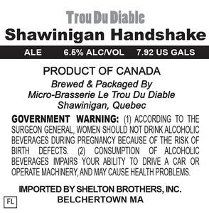 Trou Du Diable Shawinigan Handshake