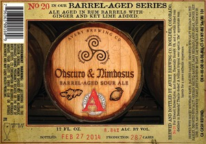 Avery Brewing Company Obscuro & Nimbosus Barrel-aged Sour
