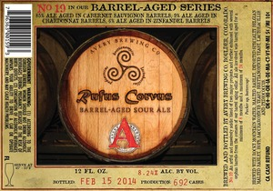 Avery Brewing Company Rufus Corvus Barrel-aged Sour