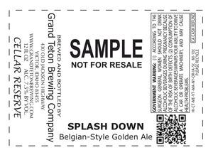 Grand Teton Brewing Company Splash Down