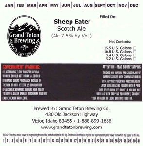 Grand Teton Brewing Company Sheep Eater