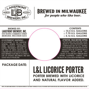 Lakefront Brewery L & L Licorice