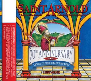 Saint Arnold Brewing Company 20th Anniversary Ale