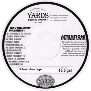 Yards Brewing Company Schwarzbier Lager