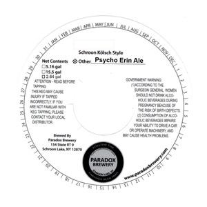 Paradox Brewery Psycho Erin