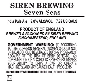 Siren Brewing Seven Seas