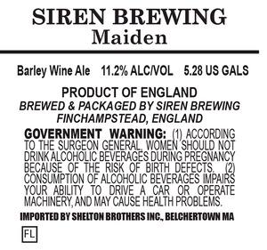 Siren Brewing Maiden