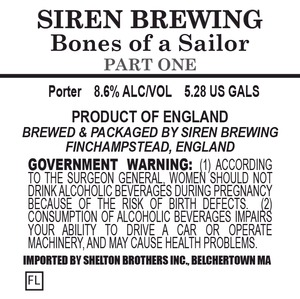 Siren Brewing Bones Of A Sailor