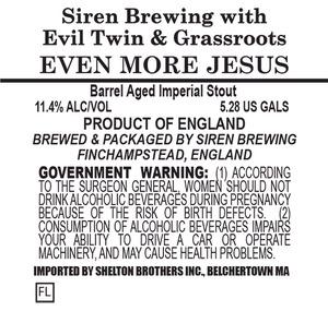 Siren Brewing Even More Jesus