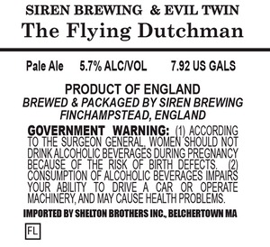 Siren Brewing The Flying Dutchman