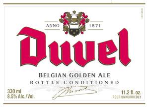 Duvel Belgian Golden Ale March 2014